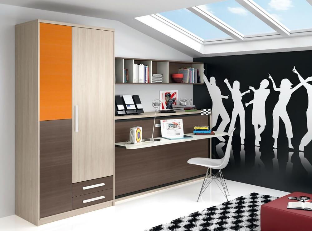 cama abatible dormitorio juvenil