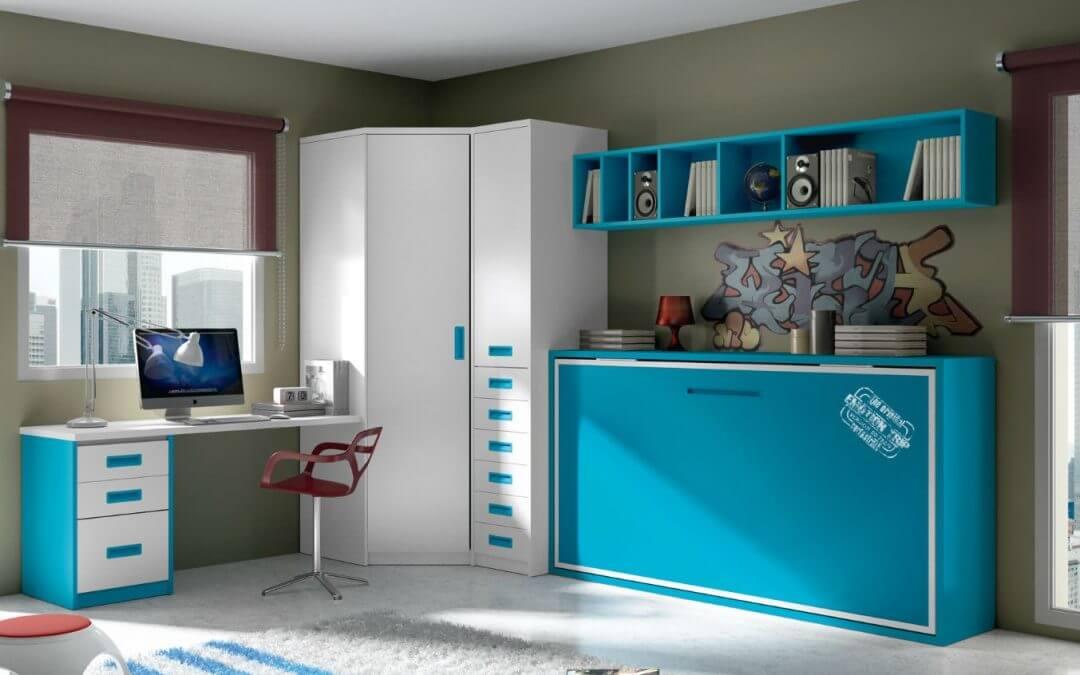 Dormitorios juveniles que ahorran espacio
