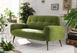 sofa nordico tapizado verde