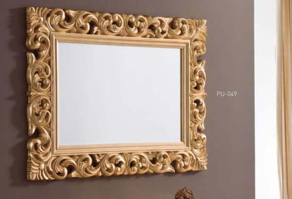 espejo clasico oro