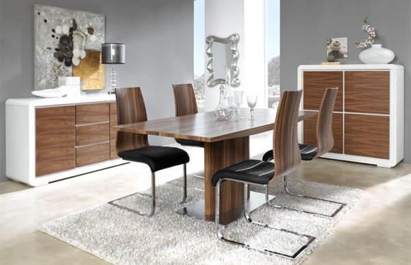 Mesa de comedor con tapa de madera
