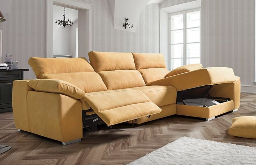 sofa chaise longue amarillo