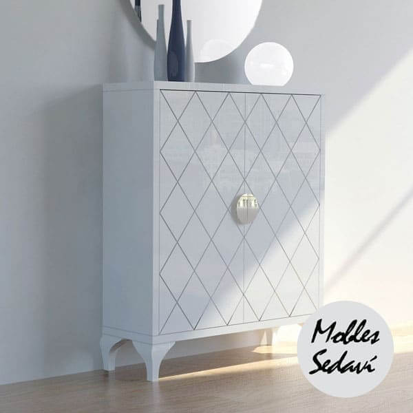 recibidor moderno diseno lacado mobles sedavi2 - Recibidores modernos: Ideas para decorar tu entrada