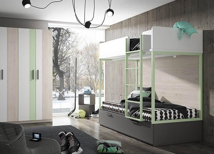 dormitorio juvenil, litera