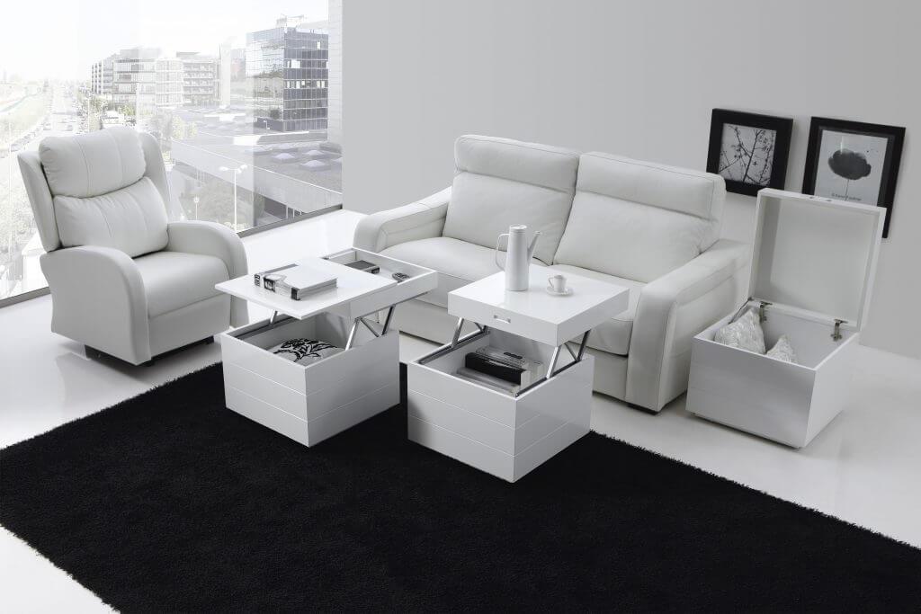 mesa de centro moderna cubo