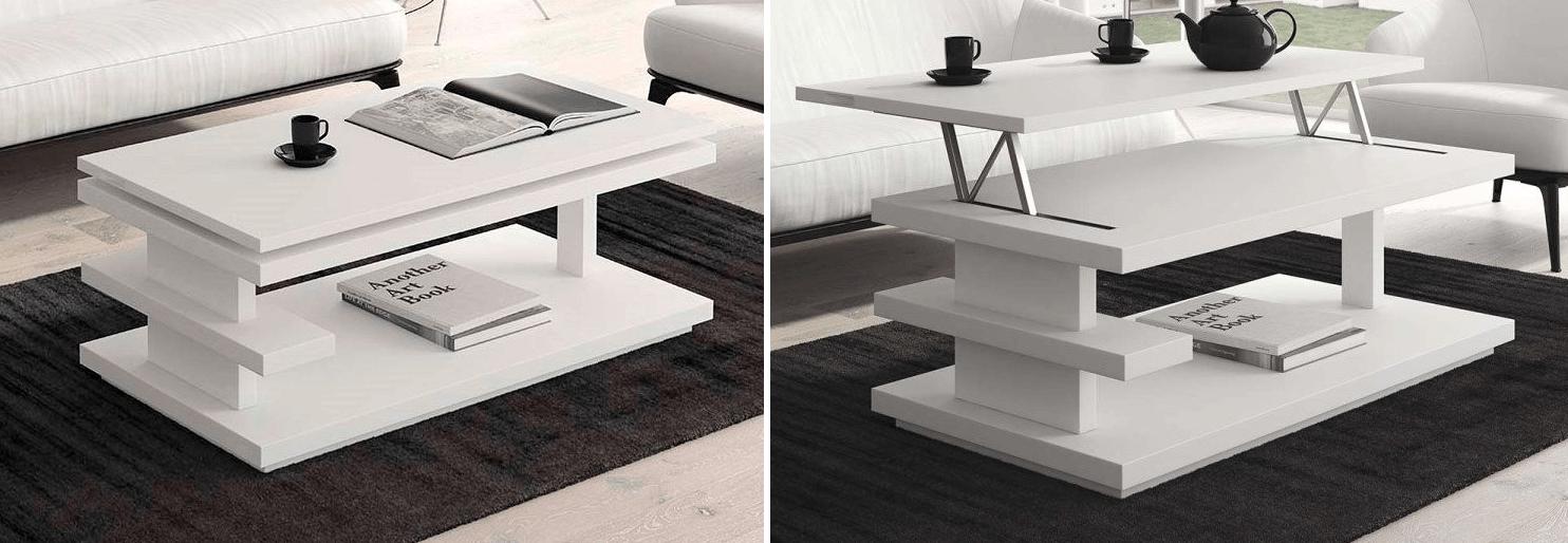 mesa de centro moderna elevable