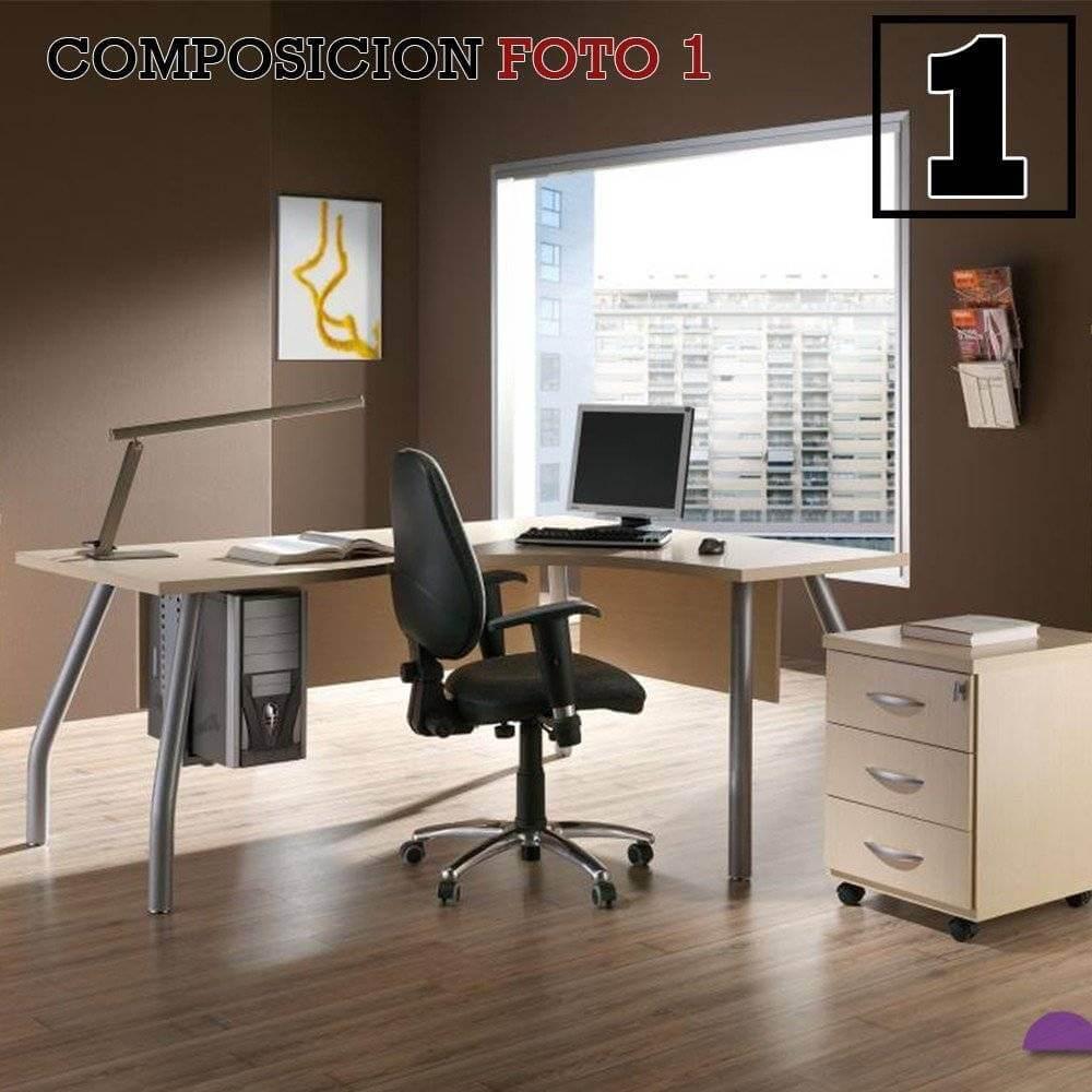 escritorio oficina 41 forma 42 - Cómo amueblar una habitación o despacho de estudio