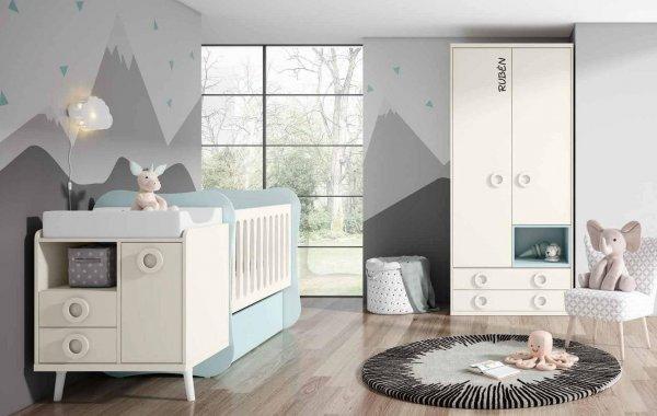 cuna convertible dormitorio juvenil e1541002384410 - Cunas para bebé de gran diseño y seguridad