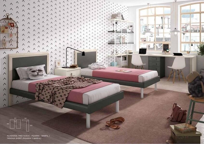 cama dormitorio juvenil infantil 2 - Los mejores dormitorios juveniles con aire moderno