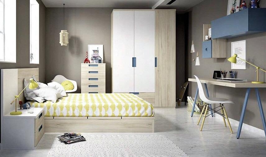 dormitorio juvenil infantil moderno 1 - Los mejores dormitorios juveniles con aire moderno