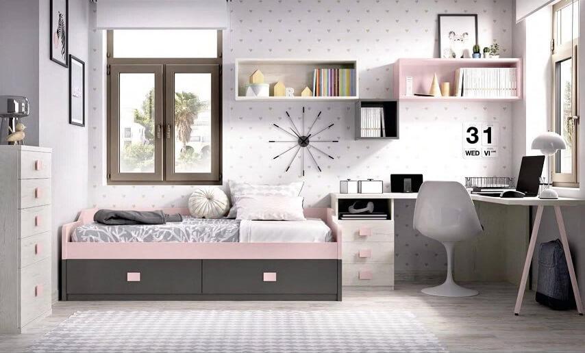 dormitorio juvenil infantil moderno 4 - Los mejores dormitorios juveniles con aire moderno