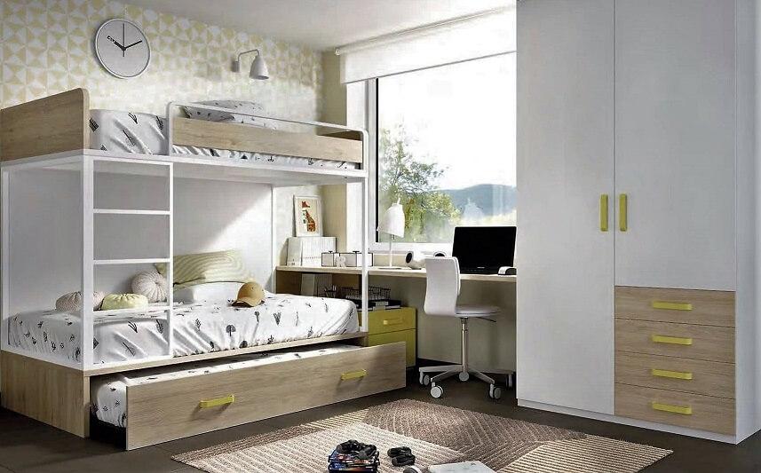 litera dormitorio juvenil infantil moderno 6 - Los mejores dormitorios juveniles con aire moderno