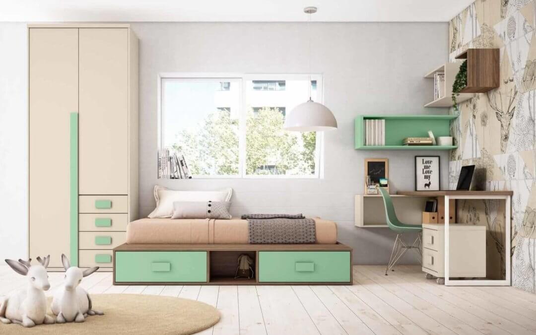 Las camas compactas como primera opción para ahorrar espacio